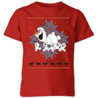 Frozen Olaf and Snowmen Kids' Christmas T-Shirt - Red - 3-4 Years - Red